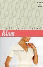 MAGLIA INCROCIO DONNA MEZZA MANICA LANA COTONE FILAM ART. 55622