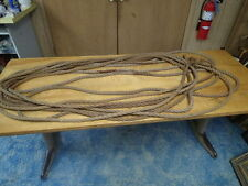 "Over 90' Hemp Rope 3/4"" diameter Used Pulley Hay Carrier Barn Vintage Decor"