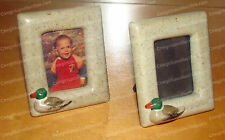 Pair (2) Mini Mallard Duck 3D Picture Frames (Ceramic)
