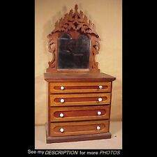 Victorian 1870-90 Fancy Black Walnut Chest of Drawers Child Doll Salesman Sample