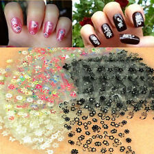 50 Sheets Nail Art 3D Transfer Stickers Design Manicure Tips Decal Decorations