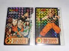 DRAGON BALL Z CARDDASS HONDAN PART 24 no: 322, 323 DOUBLE PRISM CARDS