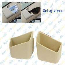 Car Pillar Pocket Holder Box Cigarette Cellphone Sun glass Holder-Beige- 2 pcs