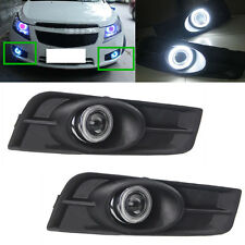 For Chevrolet Cruze 2011-2014 Front Bumper Angel Eyes+ Fog Lamp Light Cover