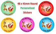 Personalised stickers for Christmas presents from Father Christmas / Santa