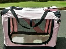 Pet Dog Travel Carrier Cat Puppy Fabric Crate Kennel Bag Cage Folding 71x52x52