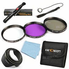 62mm UV CPL FLD Circular Polarizer Lens Filter Kit Hood Keeper For Tamron Sigma
