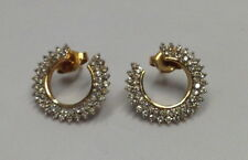 14k Yellow Gold Open Circle Diamond Earrings 1.5ctw H-I color, SI quality. Nice!