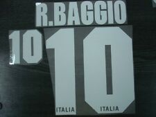 R.BAGGIO #10 Italy Home 1995-96 FLOCK VELVET Name and Numbering PRINT