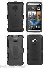 Seidio Rugged Convert Case Cover With Holster Clip Combo For HTC One 1/ M7 Black
