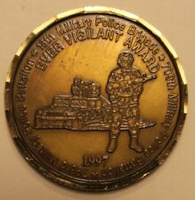 18th Military Police Brigade Ever Vigilant Award 1997 Army Challenge Coin