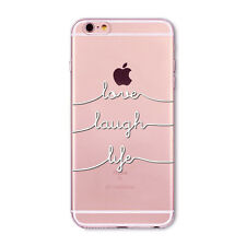 New Transparent Hollow Black&White Word TPU Case Cover For 4S 5S SE 5C 6 6S Plus