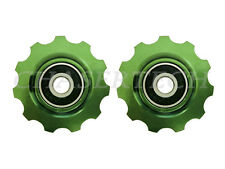 New MTB Road Bike Derailleur Jockey Wheel Solid Pulley Shimano 11T Green