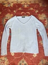 Apanage Cable Knit V-neck Chunky Jumper Size M VGC