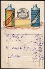 Mecano Brillant liquide - Cirage Electra - Cordon Bleu Noir liquide. Vers 1930