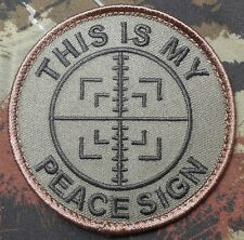 THIS IS MY PEACE SIGN ARMY SNIPER MILITARY FOREST VELCRO® BRAND FASTENER PATCH
