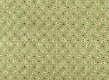 Fat Quarter Around Town Olive Green Floral Cotton Quilting Fabric  Red Rooster