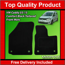 VW VOLKSWAGEN CADDY MAXI VAN 03-15 BLACK TAILORED CARPET MATS QUALITY FRONT VAN