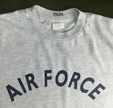 True Vintage 80s Air Force Military Rocker Gray 50/50 Poly Cotton T-Shirt M