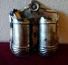 Antique Tin Wall Hanging Match Holder