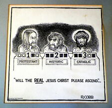 ORIGINAL VINTAGE 1967 SIGNED LIMITED EDITION JESUS LITHOGRAPH BY RON COBB
