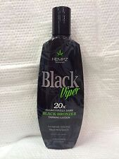 HEMPZ TANNING BLACK VIPER 20X AGGRESSIVELY DARK BLACK BRONZER TANNING LOTION 8.5