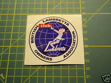 LAMBRETTA / VESPA / SCOOTER CLUB ROUND Sticker GP,TV,LI,SX,GT. 200