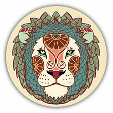 "Leo Zodiac Sign Ornament Car Bumper Sticker Decal 5"" x 5"""