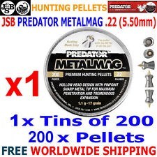 JSB PREDATOR METALMAG .22 5.50mm Airgun Pellets 200pcs (HUNTING PELLETS)