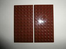 LEGO CASTLE / STAR WARS   2 Bauplatten 3028 in braun 12x6 Noppen   NEUWARE