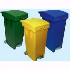 Barrel Rubbish Bin Plastic Painting With Wheels And Pedal Color See 80 Lt