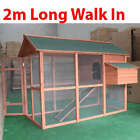 Walk-in Wood Chicken Coop with Mesh Floor Hen Chook Hutch Cage Playhouse