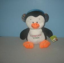"New 13"" Christmas Town Tuxedo Penguin Stuffed Plush Animal w/ Earmuffs"