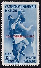 EGEO 1934 - 5 Lire n.79 MONDIALI CALCIO INTEGRO LUSSO CERTIFICATO FERRARIO € 275