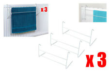 3 Piece 2 Bar Radiator Towel / Clothes Airer Dryer Drying Rack