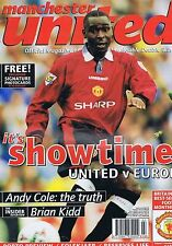 ANDY COLE / BRIAN KIDD MANCHESTER UTD Official Magazine Mar 1997