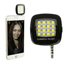Portable Rechargeable Mini Selfie Flash 16 LED Camera Lamp Light For All Phone