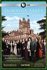BRAND NEW! ~ Downton Abbey: Complete Fourth Season 4 (DVD, 2014, 3-Disc Set) NIB