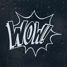Wow Boom Sign Car Decal Vinyl Sticker For Bumper Window Or Panel