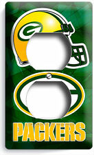 GREEN BAY PACKERS FOOTBALL TEAM LOGO DUPLEX OUTLET WALL PLATE BOYS ROOM MAN CAVE