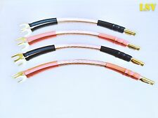 NEW VAN DAMME Hi-Fi Series LC-OFC(6mm Diameter) SPEAKER JUMPER CABLES x4(A Pair)