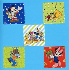 15 Mickey Mouse Christmas - Large Stickers - Party Favors - Minnie, Pluto, Goofy