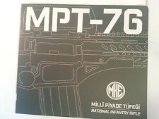 MKEK MPT-76 National Infantry Rifle / Turkish Armed Forces Assault Rifle Booklet