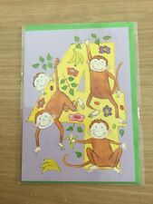 Sealed Happy 4th 4 Today Birthday Greeting Card With Monkey Design (279)
