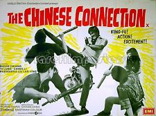 CHINESE CONNECTION (DUEL OF FISTS) 1971 David Chiang Thai Boxing UK QUAD POSTER