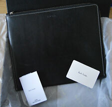 PAUL SMITH Men's black leather Naked Lady tablet case iPad cover topless Pin Up