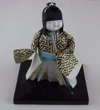 Ichimatsu Ningyo Paper White Face Japanese Doll figure With Sword 5.5 Inches