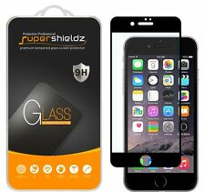 Supershieldz Tempered Glass Screen Protector Saver For iPhone 7 (Black)