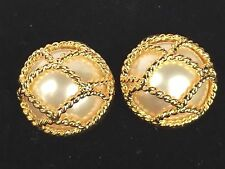 Joan Rivers Classic Snow Ball Simulated Pearl Clip On Earrings