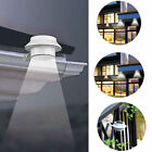 LED Solar Powered Fence Gutter Light Outdoor Garden Yard Wall Pathway Lamp